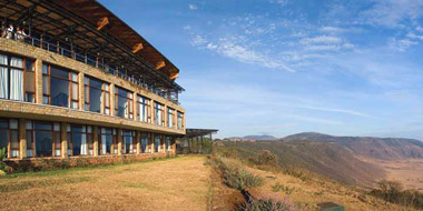 Ngorongoro Wildlife Lodge, Landschaft
