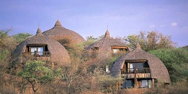 Serena Safari Lodge, Außenansicht