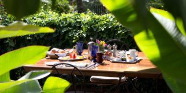 Gibbs Farm, Frühstück im Grünen