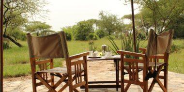 Mapito Tented Camp, Frühstück im Freien