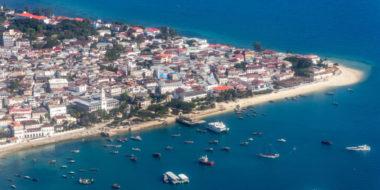 Sansibar, Stone Town aus der Luft