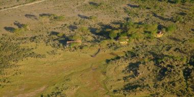 Hatari Lodge, Luftansicht