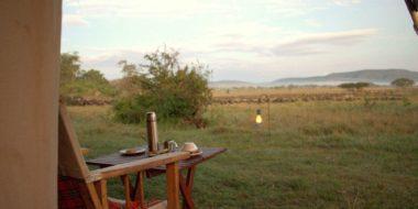 Camp Zebra, Frühstück mit Ausblick