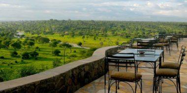 Tarangire Safari Lodge, Terrasse mit Aussicht