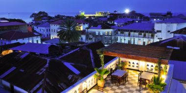Dhow Palace Hotel, Ausblick auf Stone Town