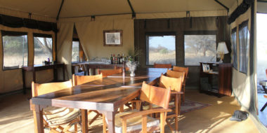 Manyara Ranch Camp, Essenszelt