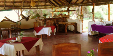 Lake Natron Tented Camp, Essensbereich