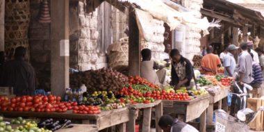 Sansibar, Obst- und Gemüsestände