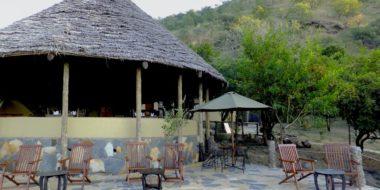 Sangaiwe Tented Lodge, Außenbereich