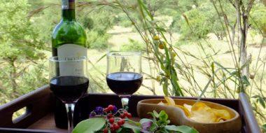 Sangaiwe Tented Lodge, Dinner mit Ausblick