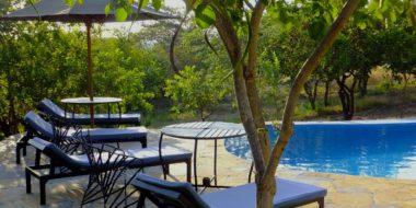 Sangaiwe Tented Lodge, Poolbereich