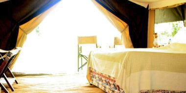 Serengeti Savannah Camps, Zelt von innen