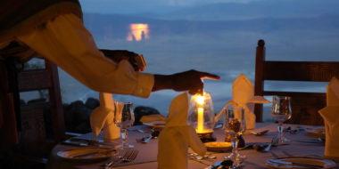 Ngorongoro Serena Safari Lodge, Abendessen