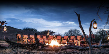 Kusini Safari Camp, Lagerfeuer