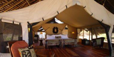 Jongomero Camp, Schlafbereich
