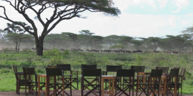 Ndutu Safari Lodge, Lagerfeuer-Platz