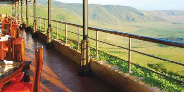 Ngorongoro Wildlife Lodge, Aussichtsterrasse