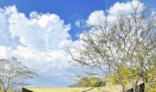 Serengeti Migration Camp, Zelt von außen