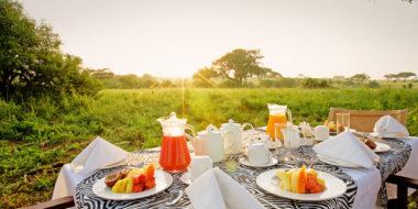 Tarangire Sopa Lodge, Frühstück im Busch
