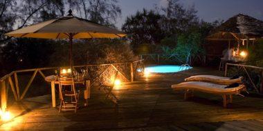 Saadani Safari Lodge, Poolbereich