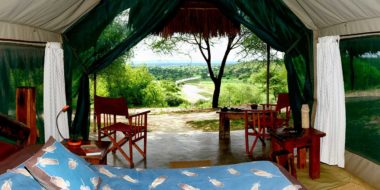 Tarangire Safari Lodge, Zelt mit Ausblick