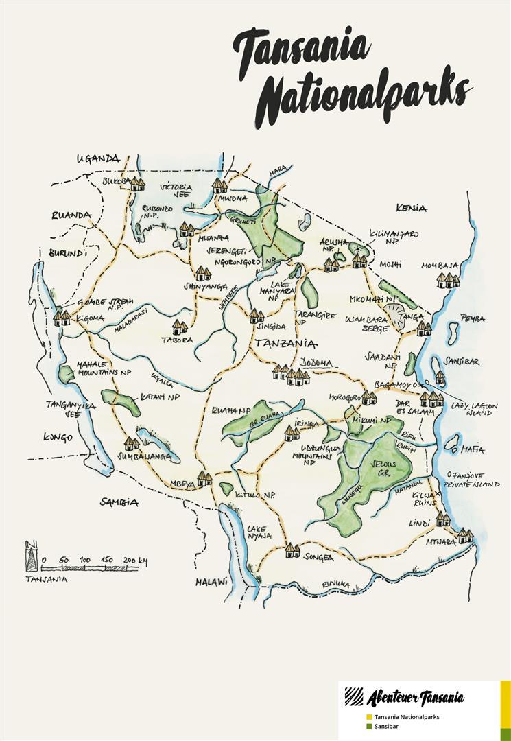 Karten Abenteuer Tansania Individuelle Reisen Nach Tansania