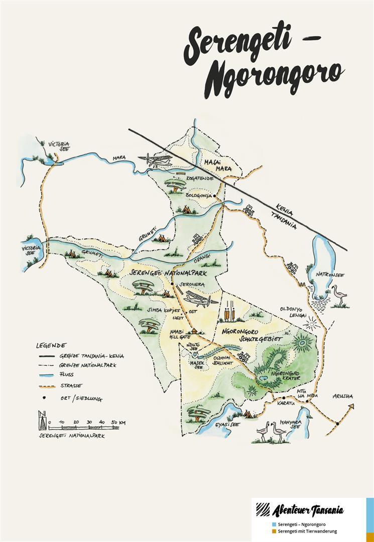 Serengeti Karte