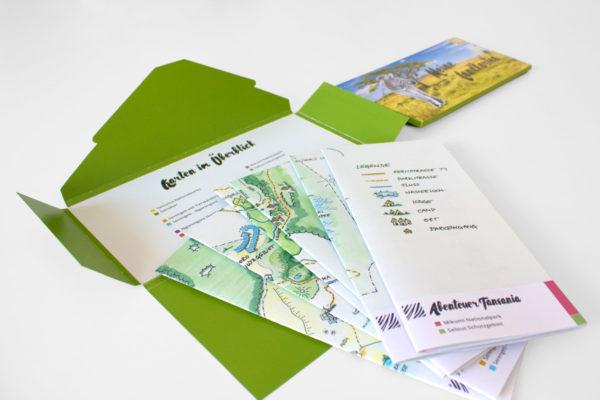 Abenteuer Tansania Landkarten-Set